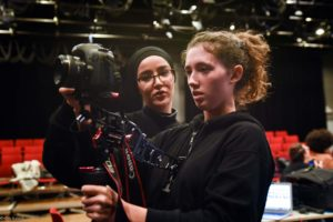 young female directors behind camera