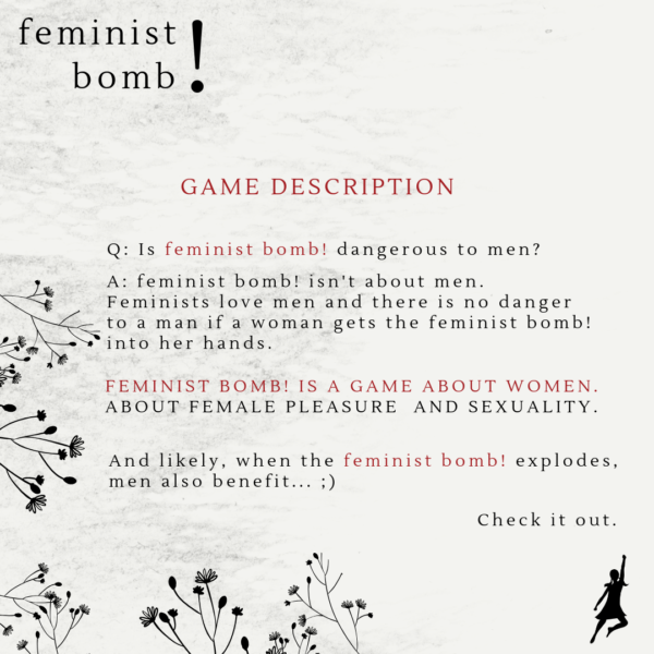 explains what the feminist bomb game is about