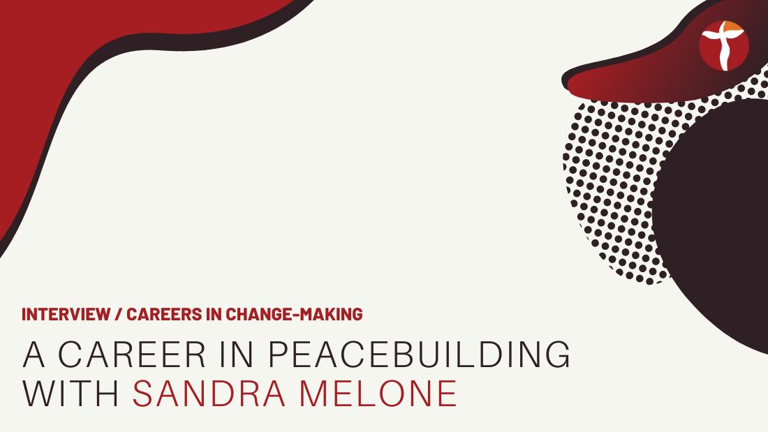 Sandra Melone peacebuilding career