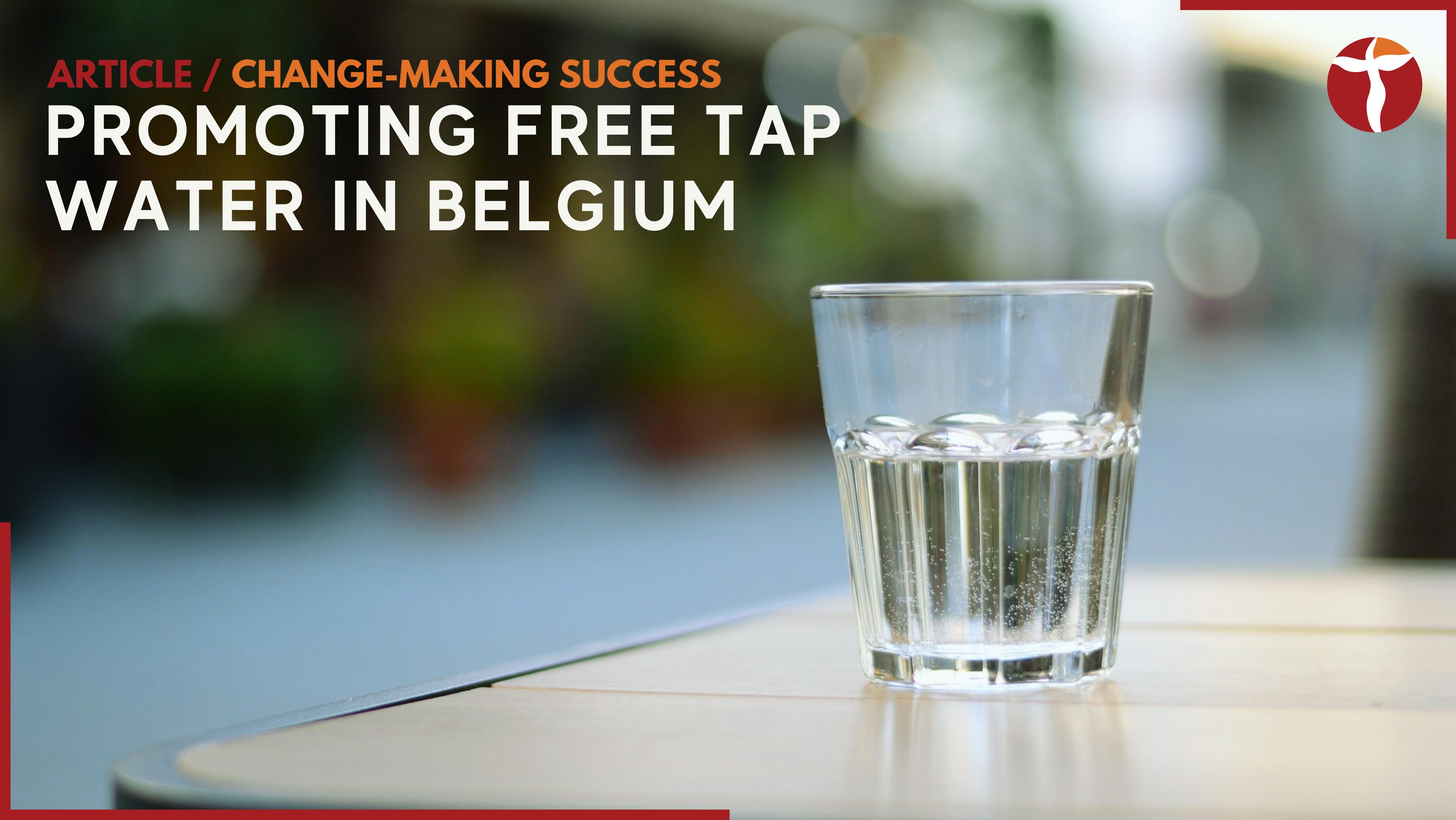 free tap water Belgium Sarah Ehrlich